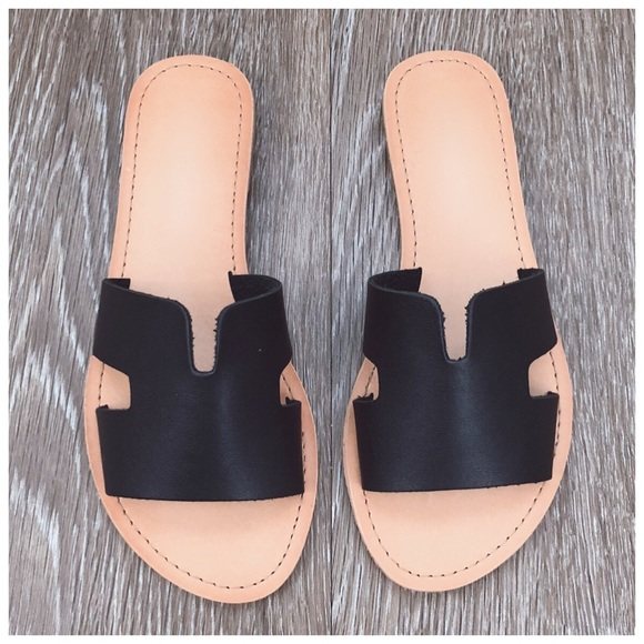 11127c0ab344 SALE ✨ New black slides sandals